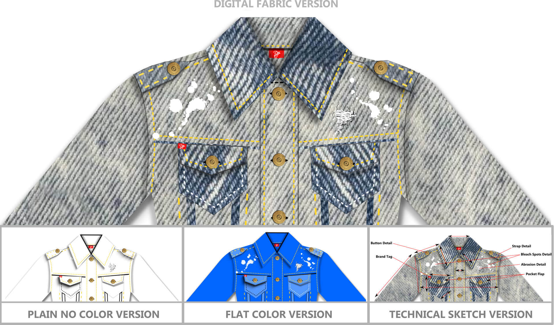 Denim Jacket Design - Fashion Design Software - Digital Fashion Pro - Design Your Own Clothing