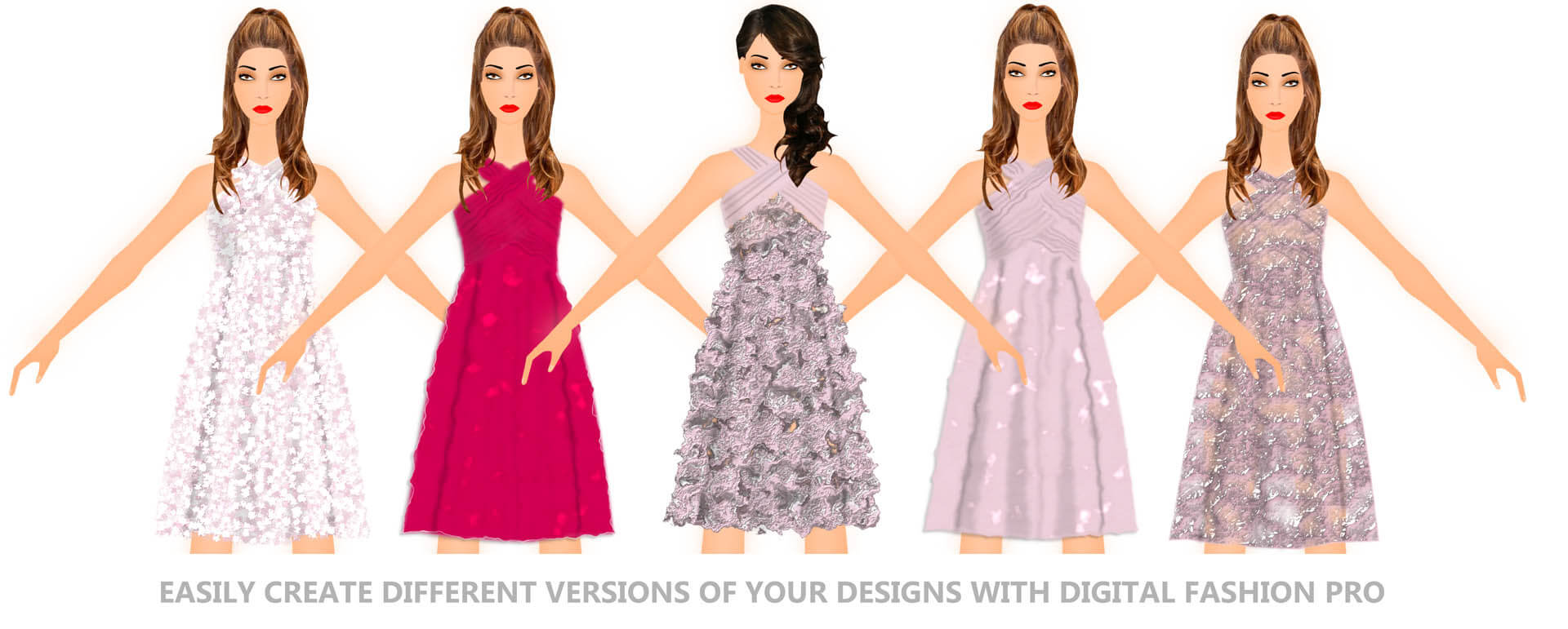 Digital Fashion Pro - Designing Dresses - Fashion Design Illustration Software