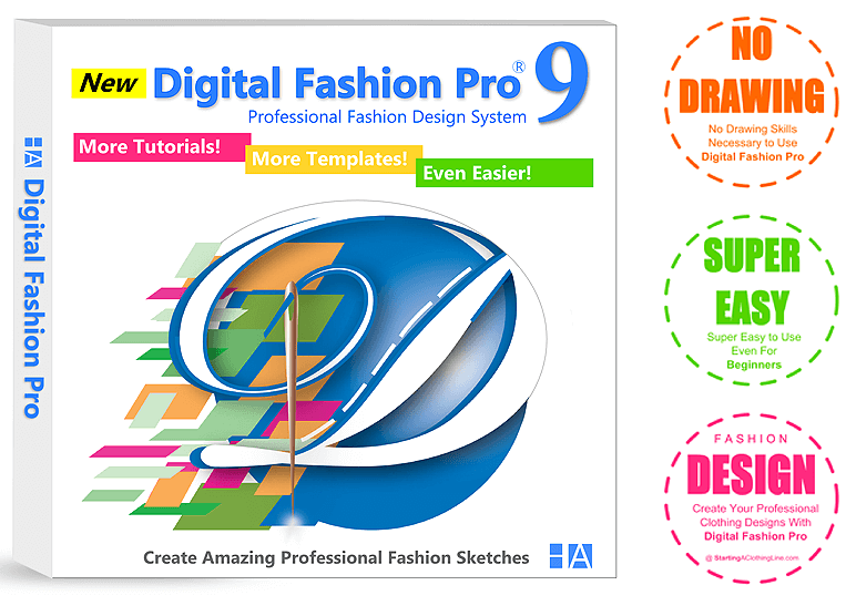 Digital Fashion Pro Clothing Design Software - Feature Box