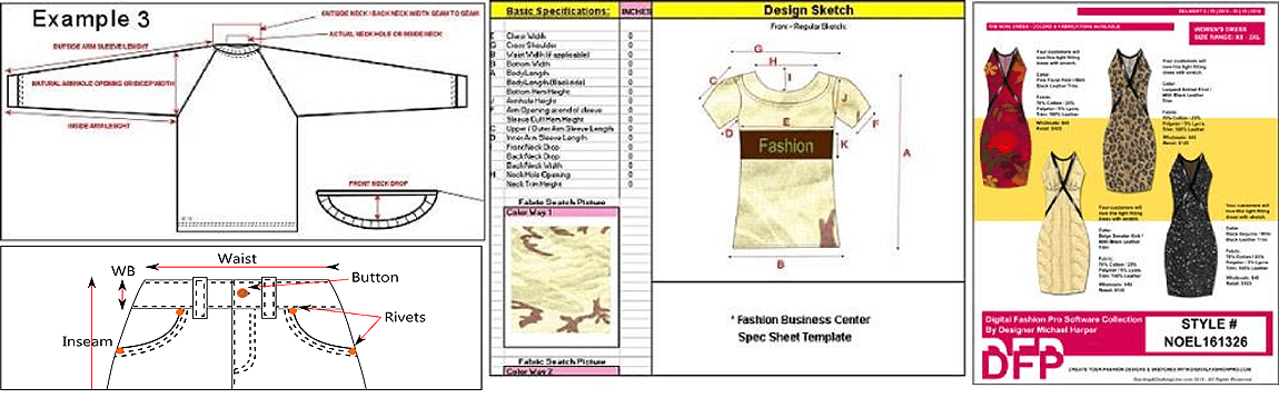 fashion design software for garment tech packs