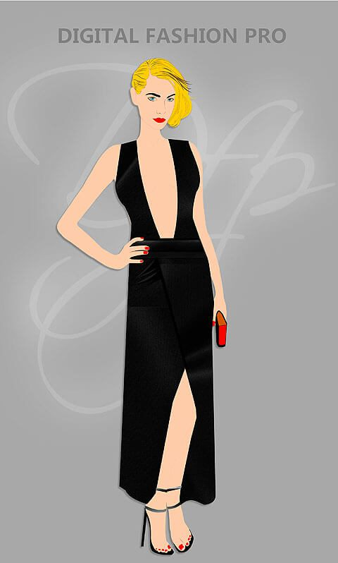 Black Dress - Clothing Fashion Design
