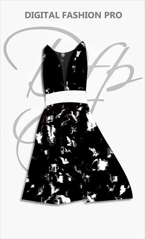Design Your Dress - Black Dress - Digital Fashion Pro Clothing Fashion Design System
