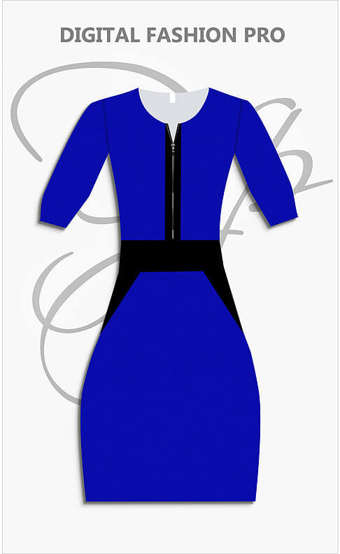 Design Your Own Color Block Dress - Digital Fashion Pro Fashion Design Software System