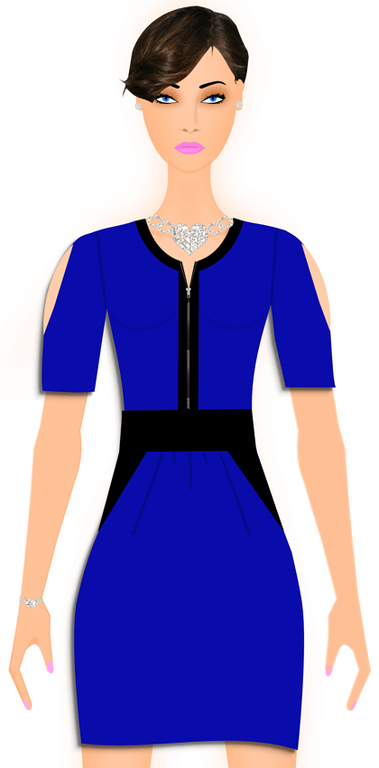Dress Design Software - Model Avatar In Clothing - Jewelry