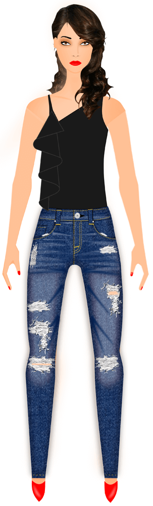 clothing sketch - fashion sketches - fashion design sketch software