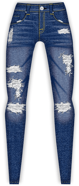 Denim Jean Design Sketch - Digital Jean Sketch - Fashion Sketch Program - Digital Fashion Pro