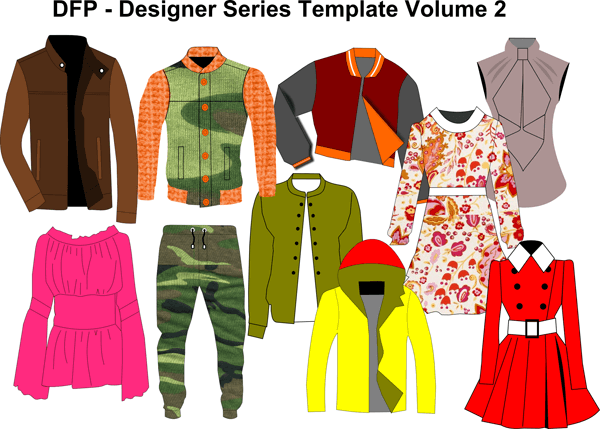 Designer Clothing Templates - Volume 2
