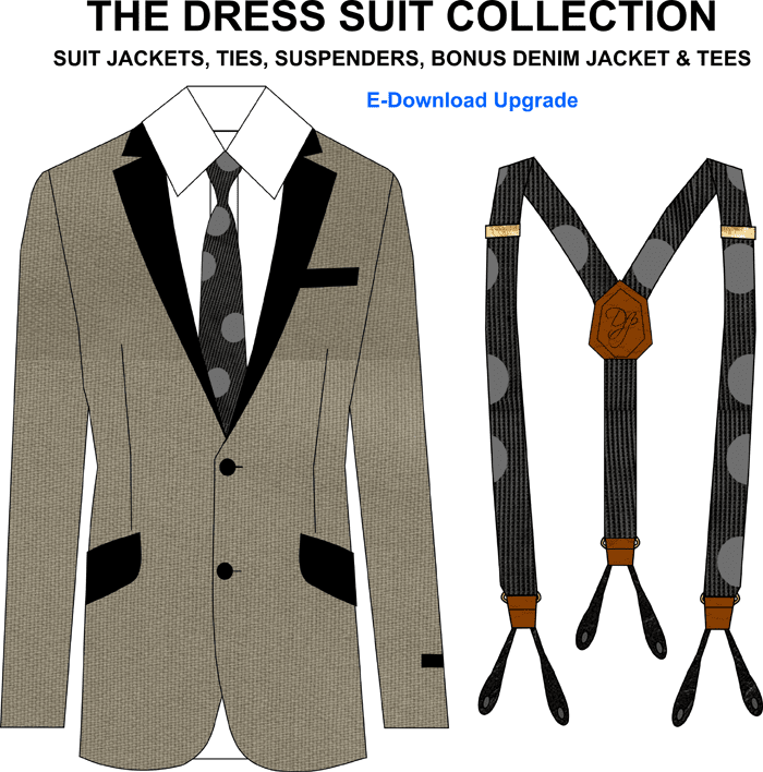 Dress Suit Templates for fashion design