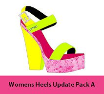 Heels Templates for footwear design