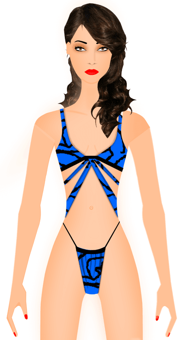 Fashion Sketch - swimwear sketch - Digital Fashion Pro