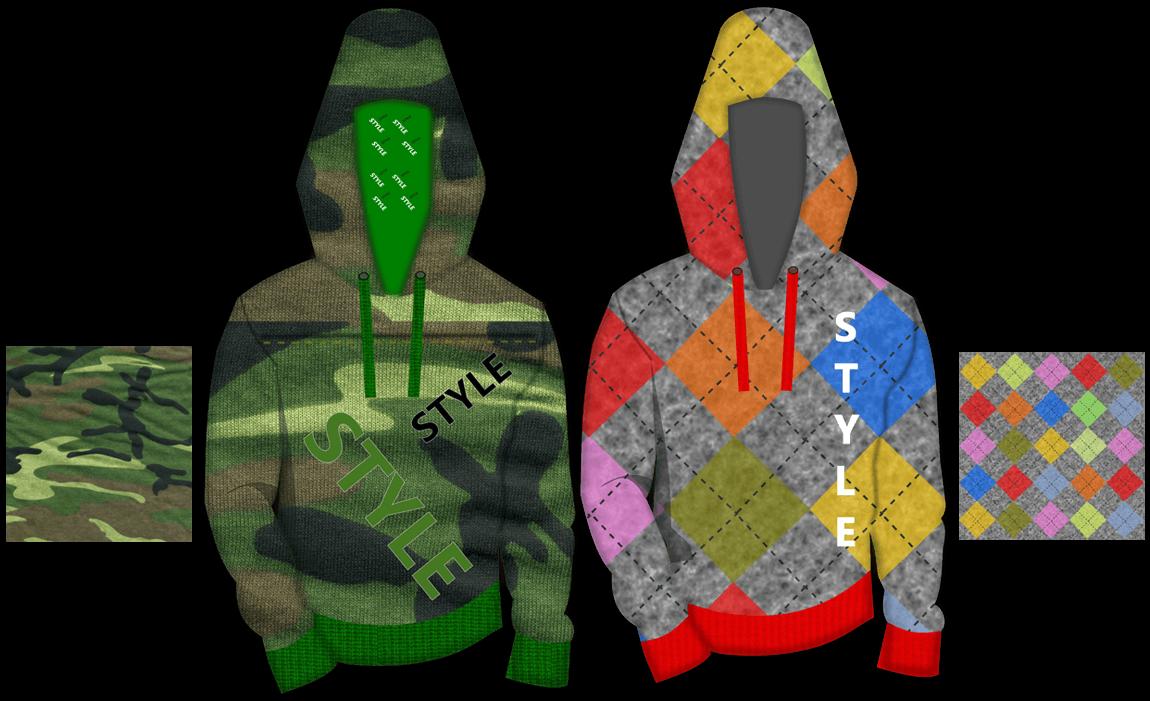 Fashion sketch - hoodie sketch