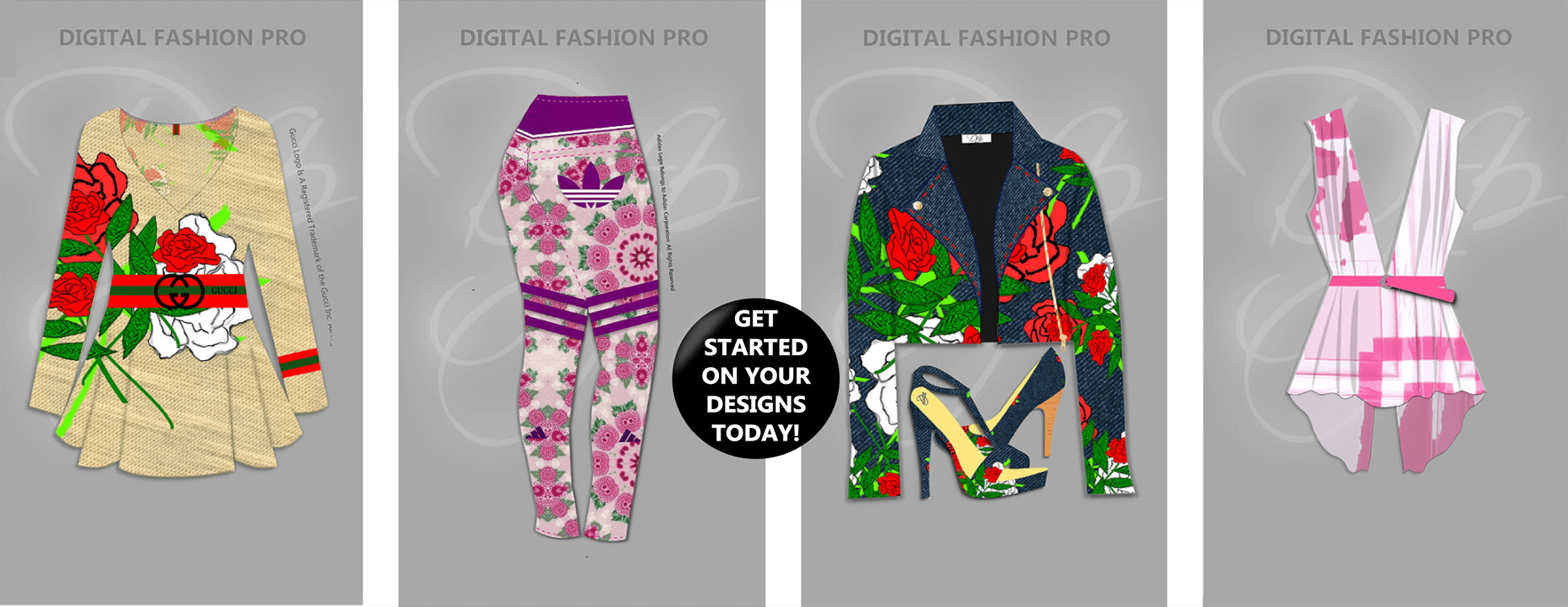 Starting a clothing line fashion design software - Digital Fashion Pro - floral collection