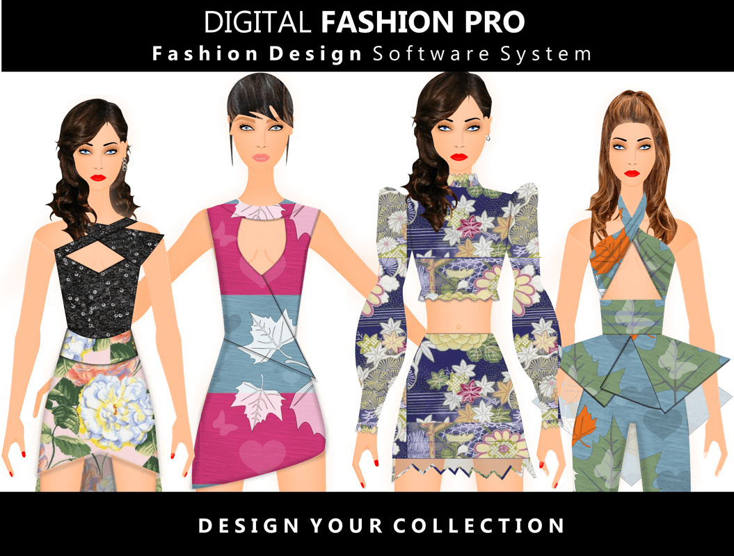 Fashion Design Software - 4 DS Models 2020 - Digital Fashion Pro
