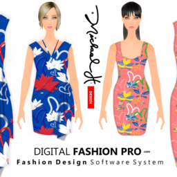 Floral Bomb Dresses by Michael H of Digital Fashion Pro