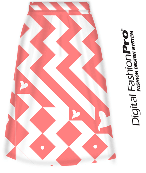 Zig Zag Signature Heart Skirt by Michael H.