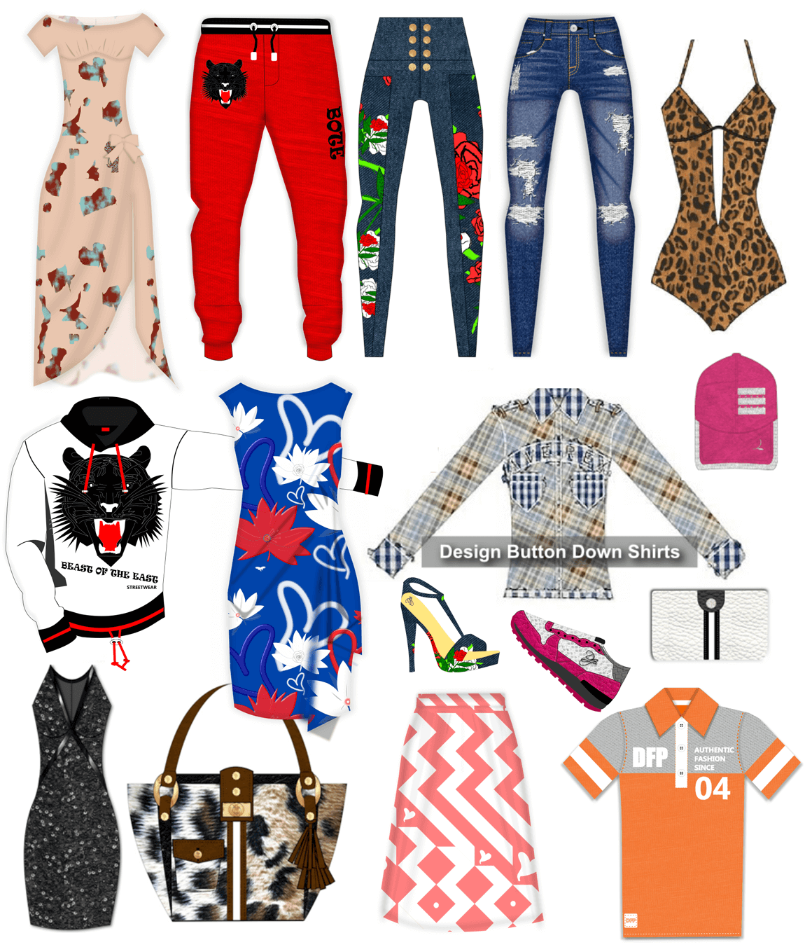 Digital Fashion Pro Clothing Templates Upgrades Libraries And Add Ons
