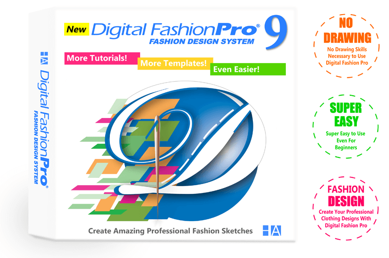 Digital Fashion Pro Fashion Design System Box - No Drawing - Super Easy - Clothing Design