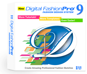 Digital Fashion Pro Version 9 - fashion design software program