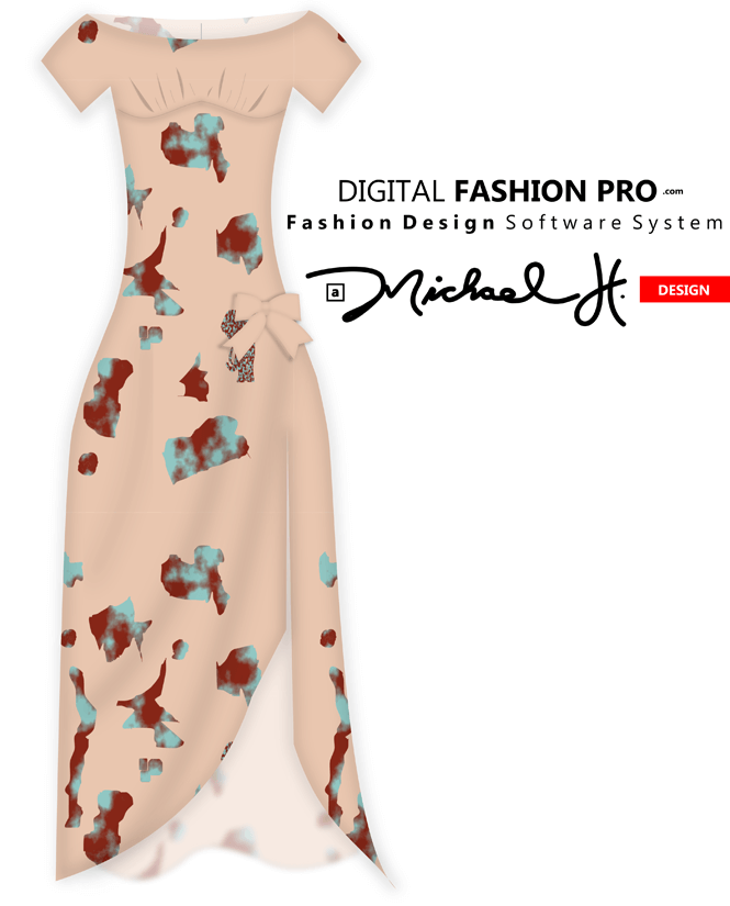 Dress Sketch - by Michael H - Digital Fashion Pro