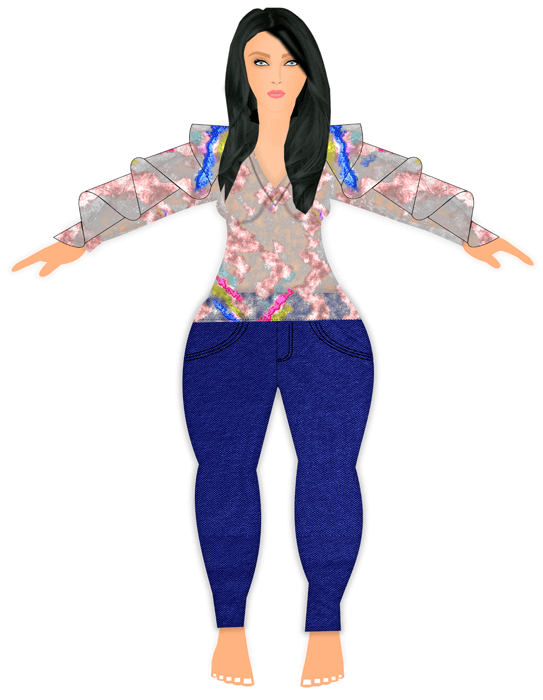 Plus Size Model clothing template
