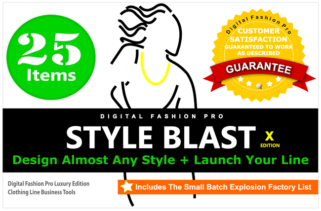 Style Blast Package - Start & Design Your Own Clothing Line